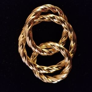 Twisted Gold Pin